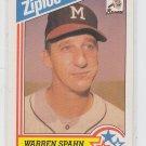 Warren Spahn Baseball Trading Card 1992 Ziploc #1 *ED