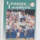 Tom Glavine League Leaders Trading Card 1992 Fleer #694 Braves *ED