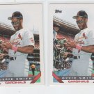 Ozzie Smith Baseball Trading Card Lot of (2) 1993 Topps #40 Cardinals