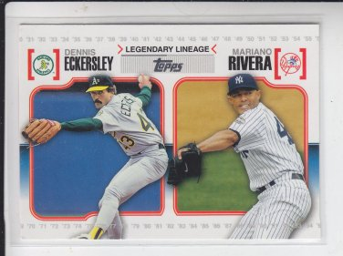 Mariano Rivera & Dennis Eckersley Legendary Lineage 2010 Topps #LL26 Yankees