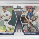 Miguel Cabrera & Victor Martinez Diamond Duos Insert 2011 Topps #19 Tigers