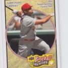 Albert Pujols Baseball Trading Card 2008 Upper Deck Heroes #156 Cardinals Angels