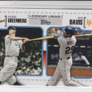 Hank Greenberg & Ike Davis Legendary Lineage Insert 2010 Topps #LL-67