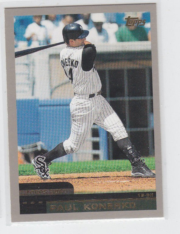 Paul Konerko Baseball Trading Card 2000 Topps #286 White Sox