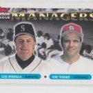 Lou Pinella Joe Torre MGR  1993Topps Series 1 #512 Dodgers Cardinals