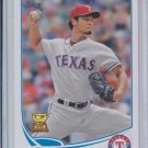 Yu Darvish 2nd Year Card 2013 Topps Series 1 #11 Rangers Sharp!