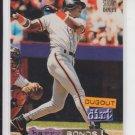 Barry Bonds Dugout Dirt Insert 1994 Topps Stadium Club #103 Giants