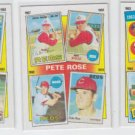 Pete Rose Years Lot of (3) No Dupes1986 Topps #2, #3 & #7 Reds
