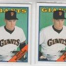 Matt Williams Rookie Card Lot of (2) 1988 Topps #372 Giants