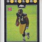 Rashard Mendenhall Rookie Card Refractors 2008 Topps Chrome #TC182 Steelers