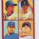 Soria Papelbon Lidge Wood 4 in 1 Red SP 2009 UD Goudey #35-49 Red Sox Indians