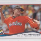 Jose Fernandez Baseball Trading Card 2014 Topps Series 2 #413 Marlins ROY