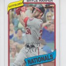 Bryce Harper Baseball Trading Card 2014 Topps Archives #100 Nationals