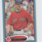 Jon Lester Blue Wal Mart Parallel 2012 Topps Series 1 #10 Red Sox