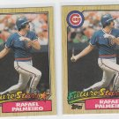 Rafael Palmeiro Rookie Card Future Star Lot of (2) 1987 Topps #634 Cubs