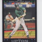 B.J. Upton Baseball Trading Card 2007 Topps Series 1 #185 Rays Braves