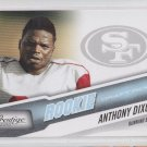 Anthony Dixon Blue Parallel 2010 Panini Prestige #205 49ers 032/999