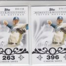 Trevor Hoffman Lot of (2) 2008 Topps Moments & Milestones Saves #32 /150 Padres