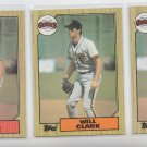 Will Clark Rookie Card Lot of (3) 1987 Topps #420 Giants