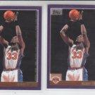 Patrick Ewing Basketball Card Lot (2) 2000-01 Topps #88 Knicks