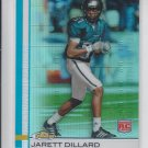 Jarrett Dillard Green Refractors 2009 Topps Finest RC #89 Jaguars 057/199
