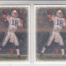 Peyton Manning Lot of (2) 2008 Upper Deck Masterpieces #68 Colts Broncos