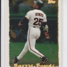 Barry Bonds Cyber Stats Baseball Card 1995 Topps #064 Giants