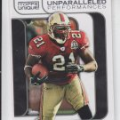 Frank Gore Unparalleled Performance Insert 2009 Topps Unique #UP12 49ers