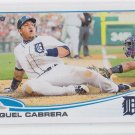 Miguel Cabrera Baseball Trading Card 2013 Topps Series 2 #660 Tigers