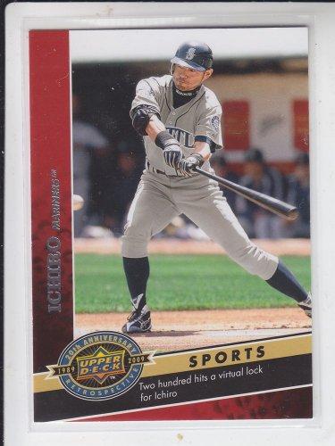 Ichiro Suzuki 20th Anniversary Insert 2009 Upper Deck #2317 Yankees