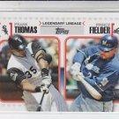 Frank Thomas Prince Fielder Legendary Lineage 2011 Topps LL20 White Sox HOF 2014