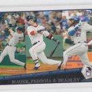 Dustin Pedroia Joe Mauer Milton Bradley 2009 Topps LL #43 Red Sox Twins