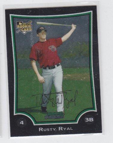 Rusty Ryal Rookie Card 2009 Bowman Chrome Draft #BDP8 Diamondbacks
