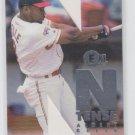 """Albert Belle N-Tense Insert 1996 Fleer E-XL #1 Indians """"Cut Out"""" Trading Card"""
