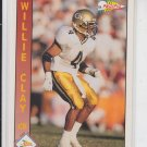 Willie Clay Rookie Card 1991 Pacific #330 Chargers Georgia Tech