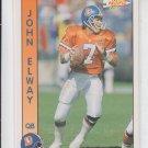 John Elway Football Trading Card 1991 Pro Set #75 Broncos
