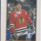 Chris Chelios Hockey Trading Card 1990-91 Bowman #398 Blackhawks