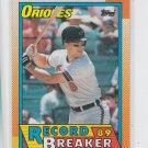 Cal Ripken Jr Belts 20 HR in 8th Season 1990 Topps #8 Orioles