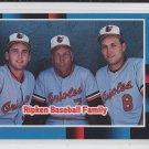 """Cal Ripken Jr """"The Ripken Baseball Family"""" 1987 Leaf #625 Orioles"""