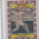 Mike Schmidt Trading Card 1992 Sportflics Kellogs Cornflakes #10 Phillies