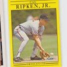 Cal Ripken Jr Baseball Trading Card 1991 Fleer #490 Orioles *ABC