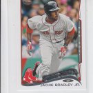 Jackie Bradey Jr Trading Card Single 2014 Topps Mini Exclusives #439 Red Sox FS