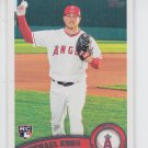 Michael Kohn RC Trading Card Single 2011 Topps Series 2 #344 Angels