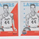 Jerry West Basketball Trading Card Lot of (2) 2011-12 Panini Past & Present #99
