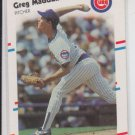 Greg Maddux Trading Card Single 1988 Fleer #423 Cubs