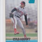Kyle Abbott Rated RC Trading Card Single 1993 Donruss #3 Angels