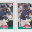 Joe Girardi RC Trading Card Lot of (2) 1989 Score Traded #24T Cubs