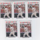 Ryan Howard Trading Card Lot of (5) 2008 Topps #100 Phillies