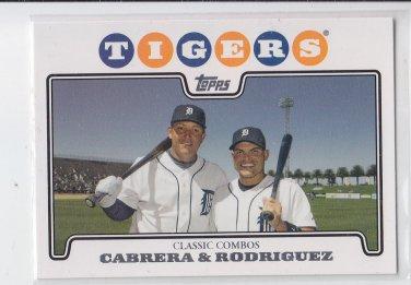 Miguel Cabrera & Ivan Rodriguez CC 2008 Topps #466 Tigers