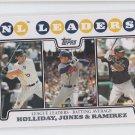 Matt Holliday Chipper Jones Manny Ramirez Trading Card Single 2008 Topps #326 LL